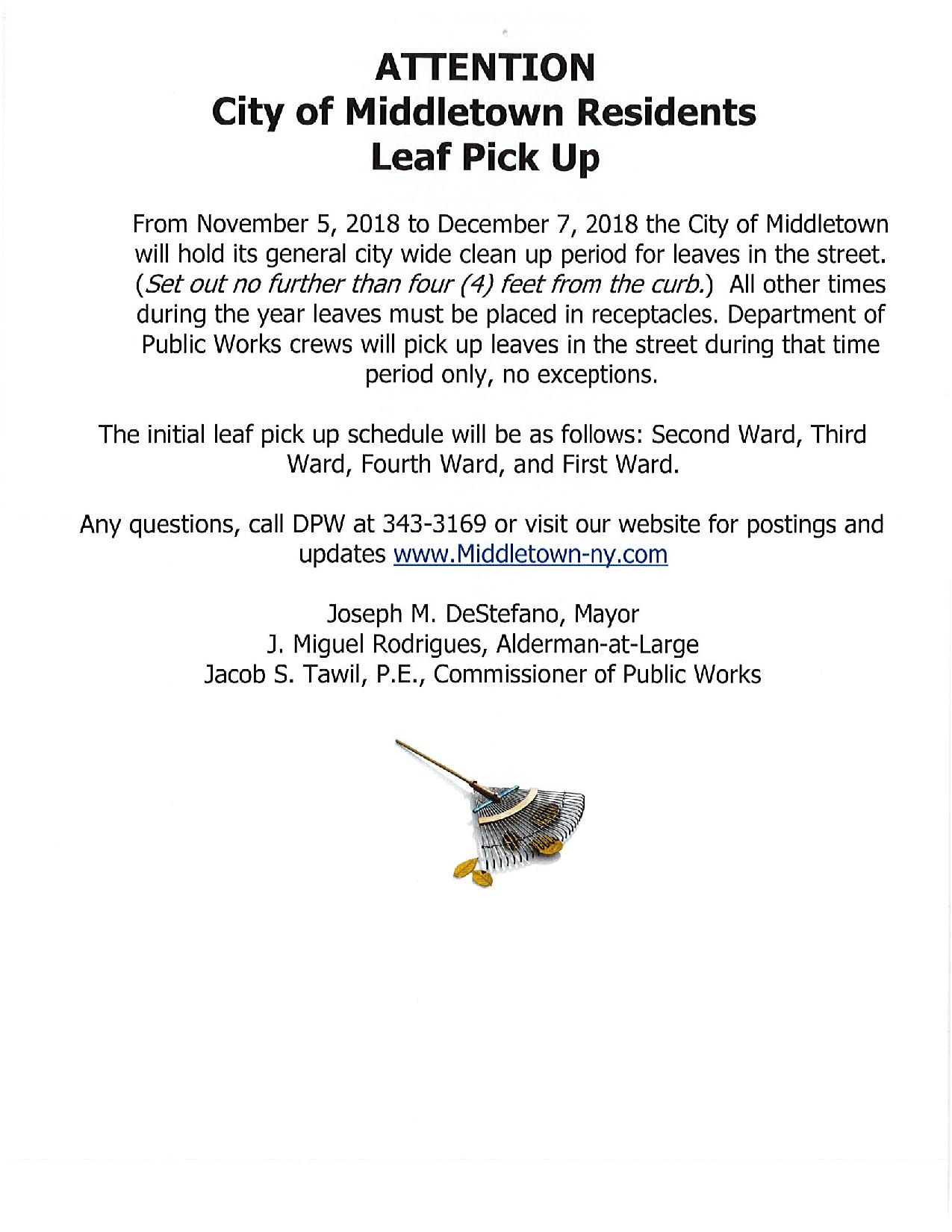 2018 LEAF PICK UP SCHEDULE page 001